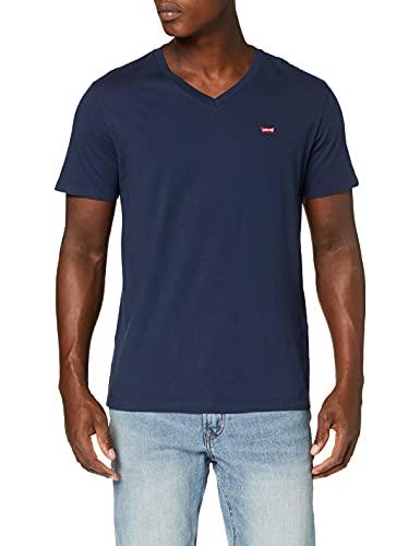 Levi's Orig Hm Vneck Camiseta, Blue (Dress Blues 0002), Medium para Hombre