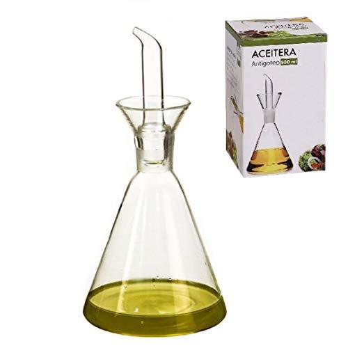 D'CASA dcasa-Aceitera antigoteo Cristal 500 CC en Caja, 500ml
