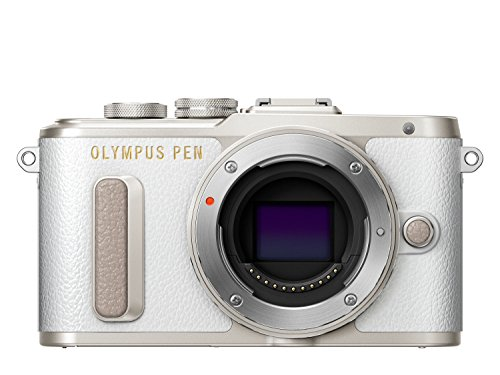 Olympus Pen E-PL8 - Cámara Evil de 16 MP (Pantalla táctil abatible de 3', estabilizador, vídeo FullHD, WiFi) Blanco