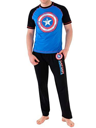 Marvel - Pijama para Hombre - Avengers Capitán América - Medium