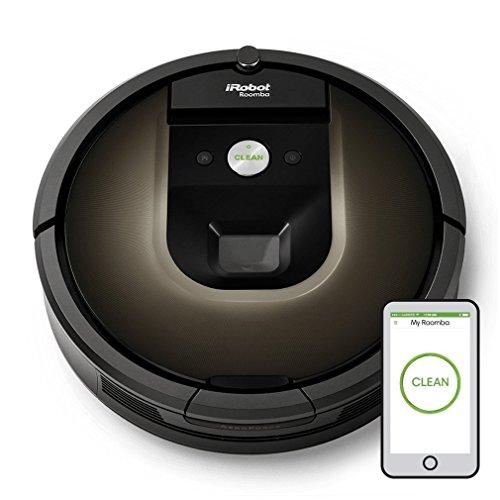iRobot Roomba 980 Sin bolsa Negro aspiradora robotizada - aspiradoras robotizadas (Sin bolsa, Negro, Chocolate, Alfombra, Cámara, 120 min, 2 h)