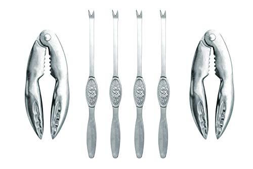 Nerthus FIH 384 - Set de utensilios para marisco Plata