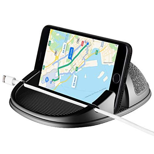Beeasy Soporte Móvil para Coche,Universal Soporte Teléfono para Auto Phone Holder Car Mount Antideslizante Salpicadero para iPhone 12 11 Pro MAX XS X XR 8 7 6 6S Plus Samsung Galaxy Huawei OnePlus