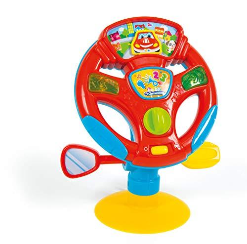 Clementoni-17241 - Volante de Actividades - juguetes bebé con sonido a partir de 10 meses