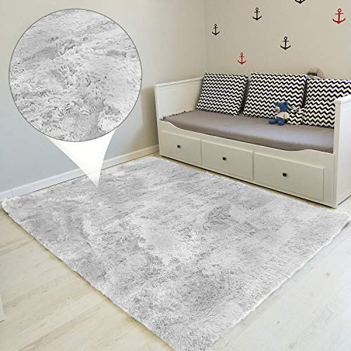 Alfombras Salon Grandes - Pelo Largo Alfombra Habitación Dormitorio Lavables Comedor Moderna Vivero