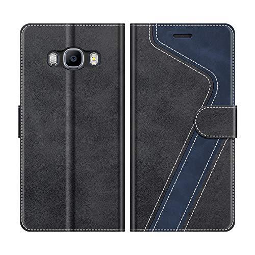 MOBESV Funda para Samsung Galaxy J5 2016, Funda Libro Samsung J5 2016, Funda Móvil Samsung Galaxy J5 2016 Magnético Carcasa para Samsung Galaxy J5 2016 Funda con Tapa, Elegante Negro