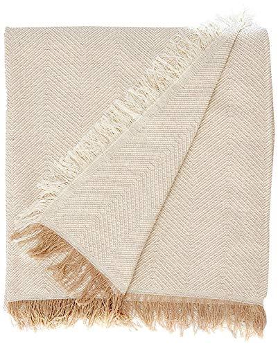 Martina Home Espiga Foulard Multiusos, Tela, Crudo/Beige, 230 x 260 cm