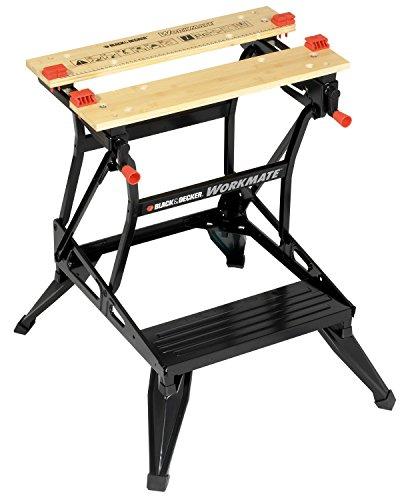 Black+Decker WM301-XJ Workmate - Banco de Trabajo, Bambú y Acero, Carga Máxima 160 kg