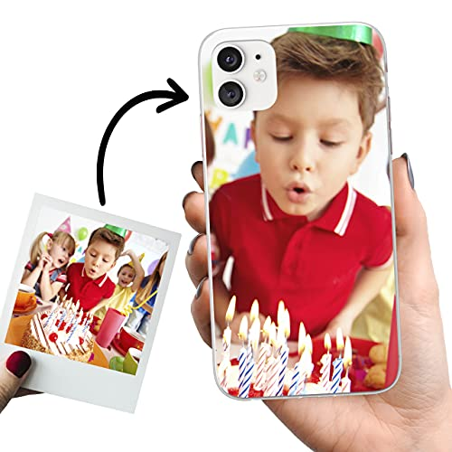 Phone Case Trends – Funda iPhone 11 Personalizada con tu Foto o Texto – Carcasa Personalizable de Gel Flexible para Móvil - Funda Transparente, Antigolpes y de Silicona - Impresión Directa en Funda