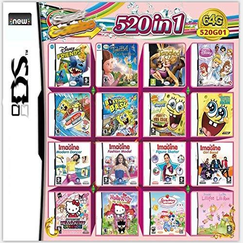 520 juegos en 1 tarjeta Paquete de juegos NDS Super Combo DS de juego para DS NDS NDSL NDSi 3DS XL Nuevo